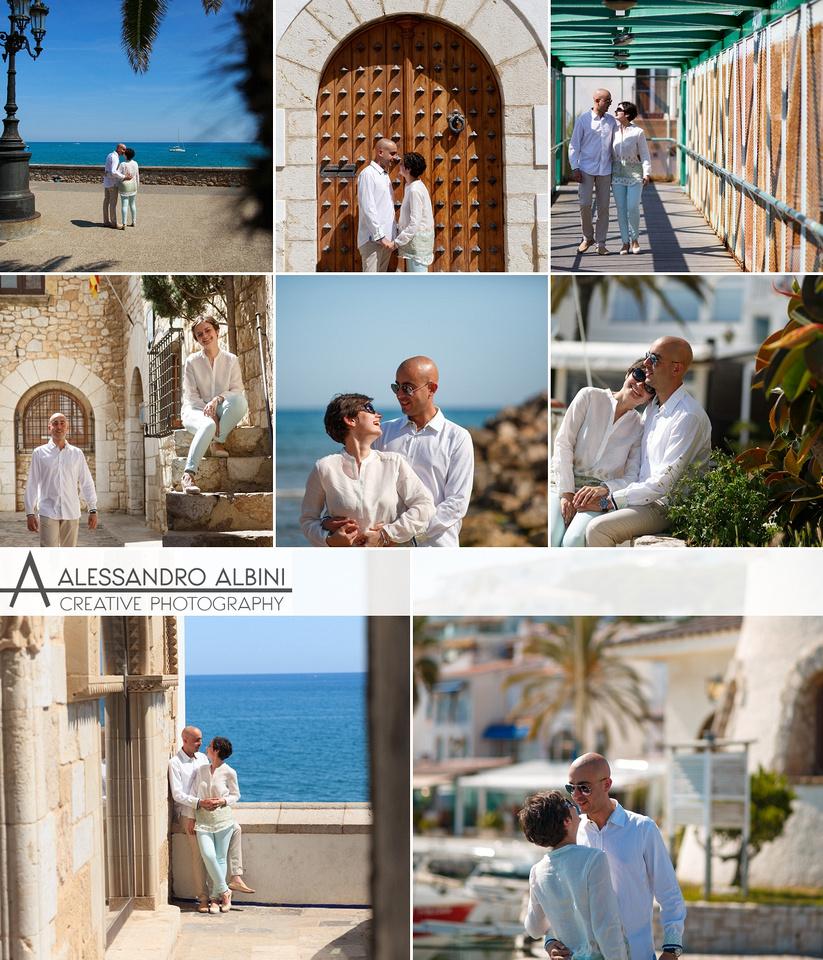 sesión de pre boda en Sitges